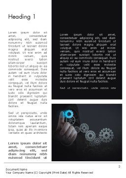 Project Launch Concept Word Template, First Inner Page, 13504, Business Concepts — PoweredTemplate.com