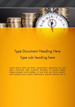 Financial Benchmarking Word Template Cover Page