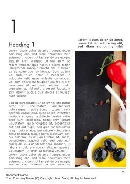 Fresh Ingredients Word Template, First Inner Page, 13510, Food & Beverage — PoweredTemplate.com