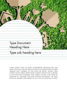 Ecosystem Word Template, Cover Page, 13511, Nature & Environment — PoweredTemplate.com