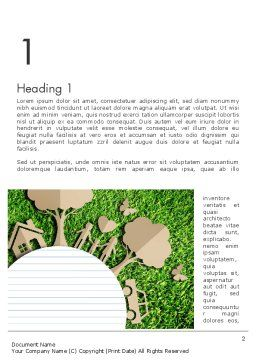 Ecosystem Word Template, First Inner Page, 13511, Nature & Environment — PoweredTemplate.com