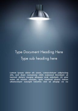 Metal Spotlight Word Template Cover Page