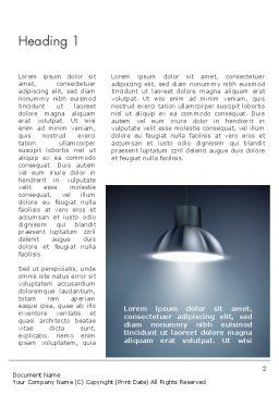 Metal Spotlight Word Template First Inner Page