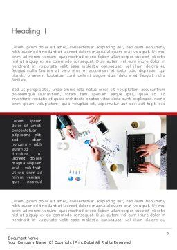 Business Meeting in Top View Word Template, First Inner Page, 13516, Business — PoweredTemplate.com