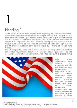 American Patriotism Word Template, First Inner Page, 13518, America — PoweredTemplate.com