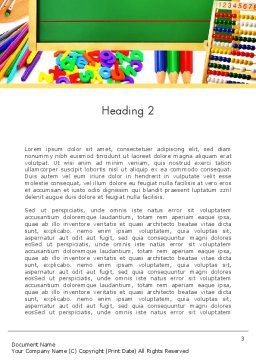 School Supplies Border Word Template, Second Inner Page, 13519, Education & Training — PoweredTemplate.com