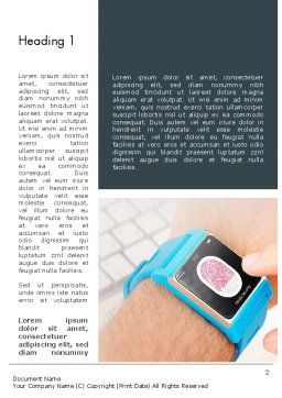 Smartwatch Word Template, First Inner Page, 13526, Technology, Science & Computers — PoweredTemplate.com