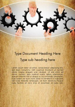 Building a System Word Template, Cover Page, 13533, Business Concepts — PoweredTemplate.com