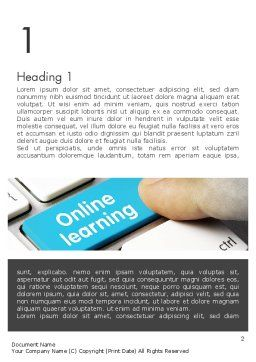 Online Learning Keyboard Word Template, First Inner Page, 13535, Education & Training — PoweredTemplate.com