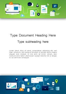 Business Process Management Word Template, Cover Page, 13541, Business Concepts — PoweredTemplate.com