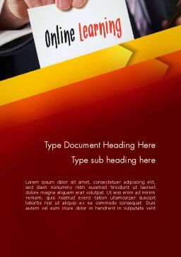 Online Learning Services Word Template Cover Page