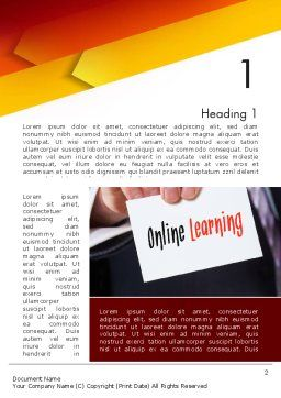 Online Learning Services Word Template First Inner Page