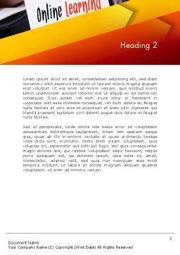 Online Learning Services Word Template Second Inner Page