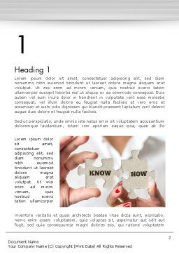 Knowhow Puzzle Pieces Word Template, First Inner Page, 13547, Business Concepts — PoweredTemplate.com