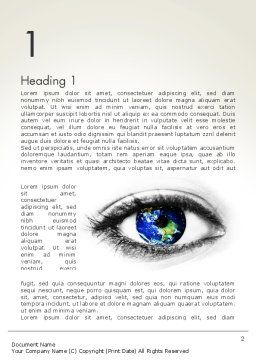 Globe in an Eye Word Template First Inner Page