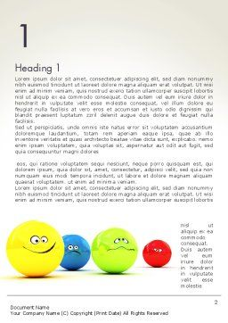 3D Emotions Word Template First Inner Page