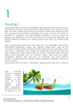 Tropical Island Word Template, First Inner Page, 13568, Nature & Environment — PoweredTemplate.com