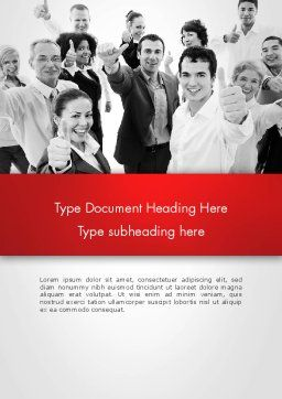 Happy Clients Word Template, Cover Page, 13570, People — PoweredTemplate.com