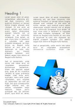 Blue Medical Cross and Stopwatch Word Template, First Inner Page, 13572, Consulting — PoweredTemplate.com