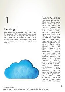 Blue Cloud Word Template, First Inner Page, 13574, Careers/Industry — PoweredTemplate.com