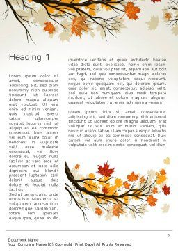 Maple Branch with Yellow Leaves Word Template, First Inner Page, 13578, Nature & Environment — PoweredTemplate.com