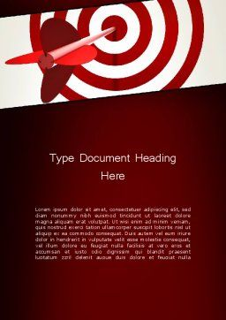 Hit the Target Word Template, Cover Page, 13579, Business Concepts — PoweredTemplate.com