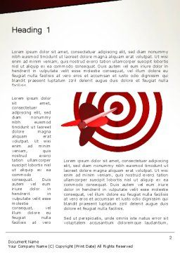 Hit the Target Word Template, First Inner Page, 13579, Business Concepts — PoweredTemplate.com