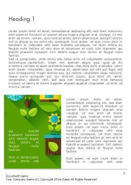 Green Sustainability Word Template, First Inner Page, 13580, Nature & Environment — PoweredTemplate.com