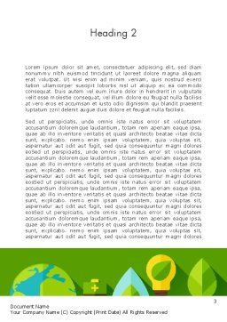 Green Sustainability Word Template Second Inner Page