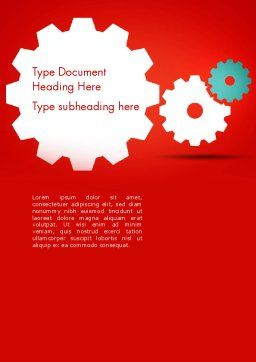 Flat Gears Word Template, Cover Page, 13586, Business Concepts — PoweredTemplate.com