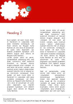 Flat Gears Word Template Second Inner Page