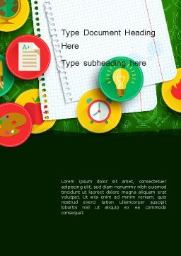 Back To School Background Word Template Cover Page