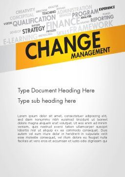 Change Management Word Template, Cover Page, 13590, Business Concepts — PoweredTemplate.com