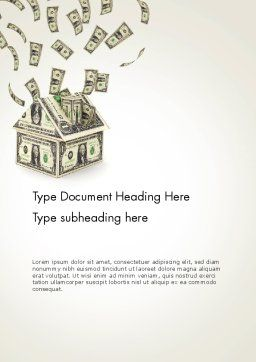 Investments in Real Estate Word Template Cover Page