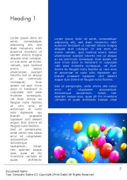 Colorful Birthday Party Balloons Word Template, First Inner Page, 13592, Holiday/Special Occasion — PoweredTemplate.com
