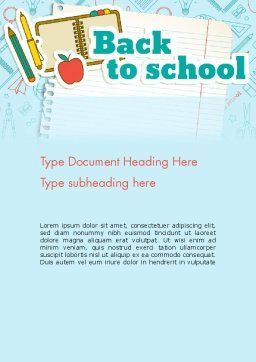 Back to School of Notebook Sheet Word Template#2