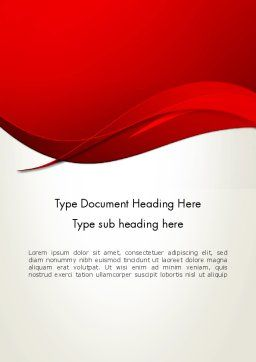 Red Flame Wave Abstract Word Template 13602