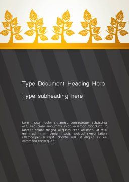 Yellow Trees Illustration Word Template, Cover Page, 13603, Nature & Environment — PoweredTemplate.com