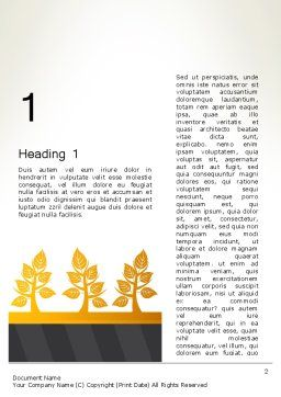 Yellow Trees Illustration Word Template, First Inner Page, 13603, Nature & Environment — PoweredTemplate.com