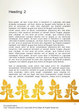 Yellow Trees Illustration Word Template, Second Inner Page, 13603, Nature & Environment — PoweredTemplate.com