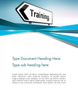 Training Course Sign Word Template Cover Page