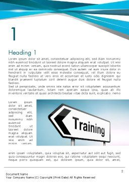 Training Course Sign Word Template First Inner Page