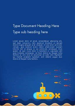 Yellow Submarine Word Template, Cover Page, 13610, Nature & Environment — PoweredTemplate.com