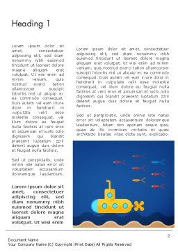 Yellow Submarine Word Template, First Inner Page, 13610, Nature & Environment — PoweredTemplate.com