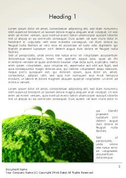 Young Shoot on Green Earth Word Template First Inner Page