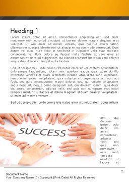 Working for Success Word Template, First Inner Page, 13615, Business Concepts — PoweredTemplate.com