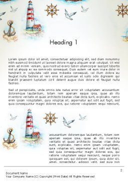Marine Background Word Template, First Inner Page, 13618, Careers/Industry — PoweredTemplate.com