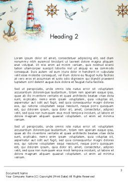 Marine Background Word Template, Second Inner Page, 13618, Careers/Industry — PoweredTemplate.com