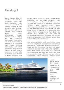 Cruise Ship Word Template First Inner Page