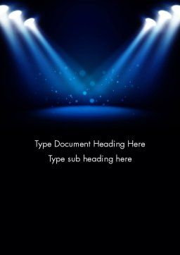 Illuminated Stage with Blue Scenic Lights Word Template Cover Page